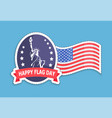 happy flag statue of liberty vector image vector image
