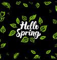 hello spring greenery design vector image vector image