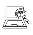 isolated laptop design vector image vector image