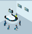 isometric concept of getting baggage vector image vector image