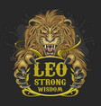 leo lion zodiac element vector image vector image