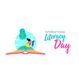 literacy day web banner for world education vector image vector image