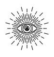 masonic eye providence sign on white background vector image