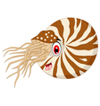 Nautilus Cartoon for you design vector image vector image
