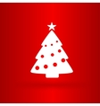 Nice Christmas tree on the red background vector image