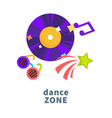 night party or dance music club icons for vector image