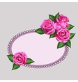 Pink roses card vector image