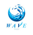 pure water abstract sign for use as business vector image vector image