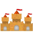 Red Brick Castle vector image