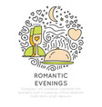 romantic and wedding travel icons in hand draw vector image