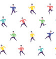 running people hurry late man sport activities vector image