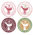 running rooster farm vintage grunge labels set vector image vector image