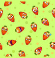 seamless pattern with funny cartoon carrot vector image vector image