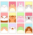 set of banners with cute animals vector image