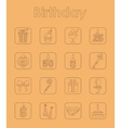 Set of birthday simple icons vector image vector image