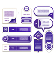 Set of blue-violet progress version step icons eps vector image