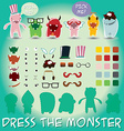 Set of cute little monsters for dress up vector image