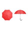 set umbrellas vector image