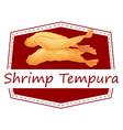 Shrimp tempura vector image vector image