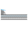 side view of a soccer stadium vector image vector image