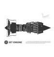 silhouette jet engine aircraft vector image vector image
