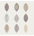 Similar Shape Leaf Set vector image vector image
