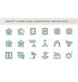 smart home icon set design vector image