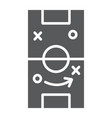 soccer strategy glyph icon game and field vector image vector image