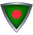steel shield with flag bangladesh vector image