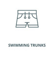 swimming trunks line icon linear concept vector image vector image