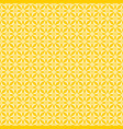 tile yellow and white pattern vector image vector image