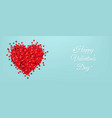 valentines day postcard with red hearts blue vector image vector image