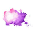 watercolor texture stain in purple color shade vector image vector image
