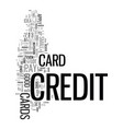 you can get a credit card text word cloud concept vector image vector image