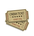 Old vintage paper tickets vector image