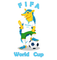 Armadillo FIFA World Cup mascot isolated on white vector image
