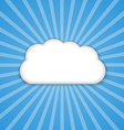 Abstract background cloud in the blue sky with sun vector image