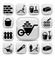 bricklayer icons vector image