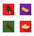ice cream hot dog nugget shashlyk fast food vector image