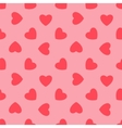 Valentines day Pink hearts - seamless pattern vector image