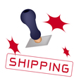 A Rubber Stamp With A Word Shipping vector image