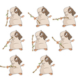 A set of a guinea pigs for a computer game vector image vector image