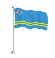 aruba flag isolated wave flag country