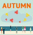autumn concept people leaf fall vector image vector image