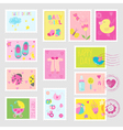 Baby Girl Stamps Design Elements