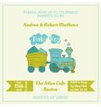 Baby Shower Card with Baby Train vector image vector image
