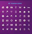 big travel tourism and weather icon set vector image vector image
