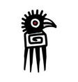 bird icon aztec vector image vector image