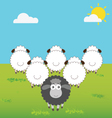 Black Sheep With Difference Thinking vector image