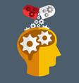brain medicine flat design vector image vector image
